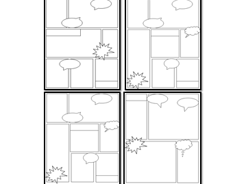 Differentiated comic strip templates