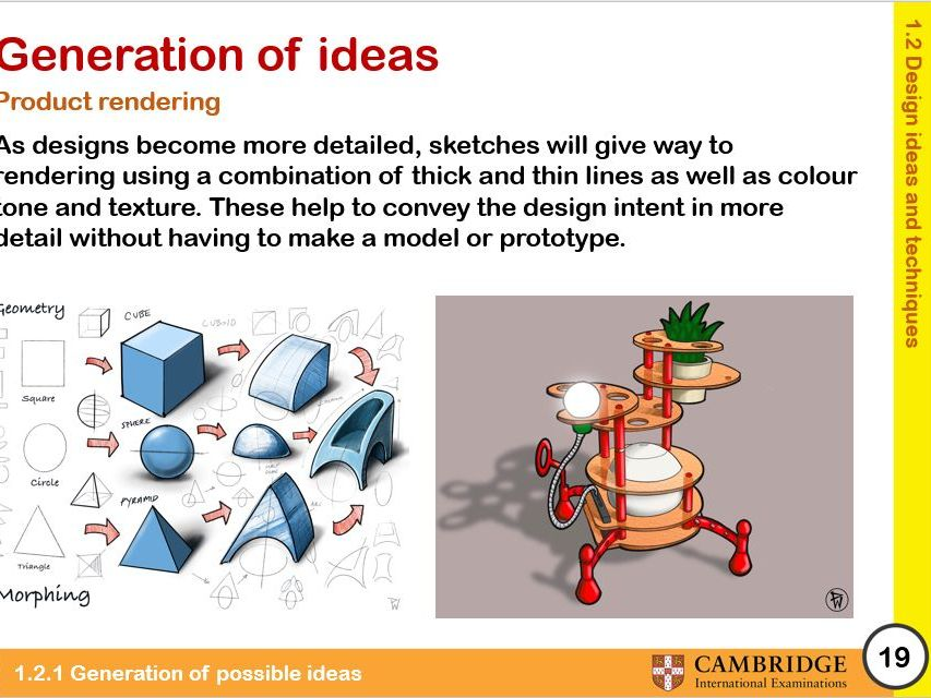 Cambridge ICGSE D&T: Product Design Theory