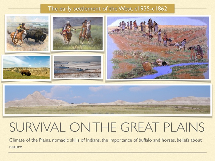 GCSE History American West 19th cent. Survival on the Great Plains.