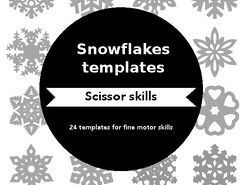 Snowflake Templates for Fine Motor Practice