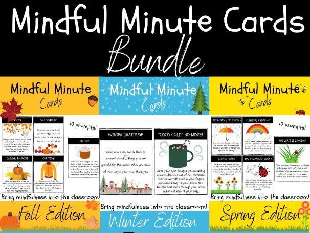 Mindful Minute Cards: SEASONAL BUNDLE