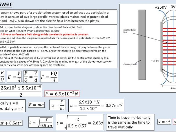 A level Physics (22.3) Electric Potential (Electric fields)