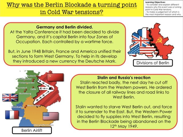 Cold War Why was the Berlin Blockade a turning point  in Cold War tensions?