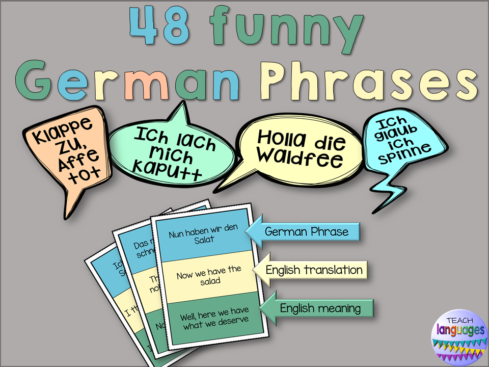 German Phrases with English translation and meaning