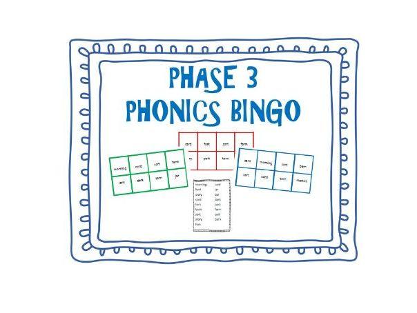 Phase 3 Phonics Bingo