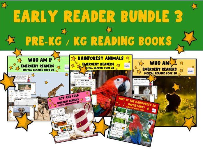 Emergent Readers - First Readers - Mini Bundle - PowerPoint  Slides ebooks Set 3