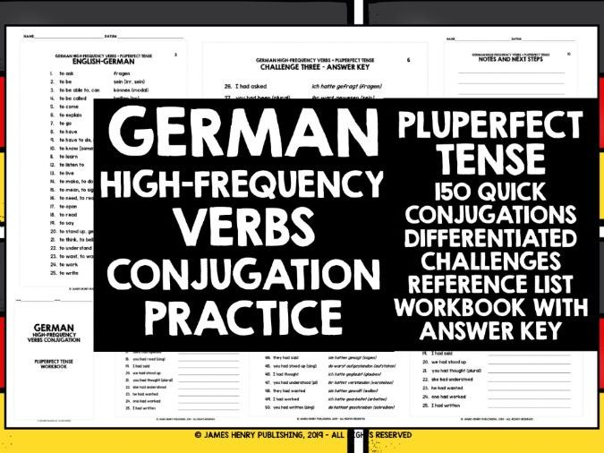 GERMAN HIGH-FREQUENCY VERBS CONJUGATION 6
