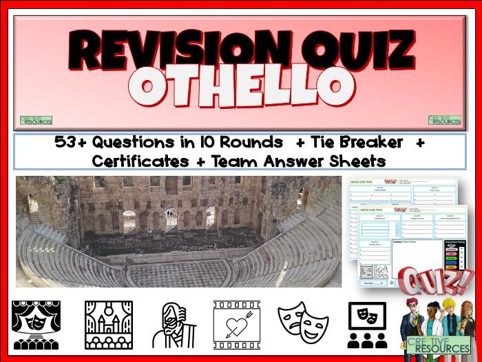 Othello Shakespeare Quiz