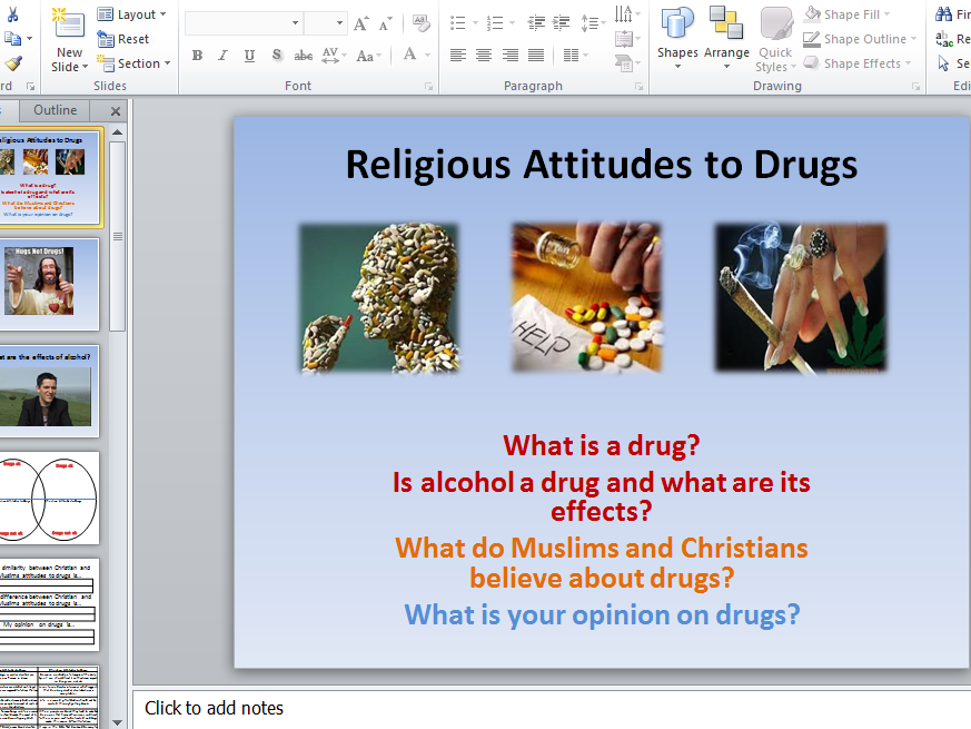 Drugs, Alcohol and Religious Attitudes