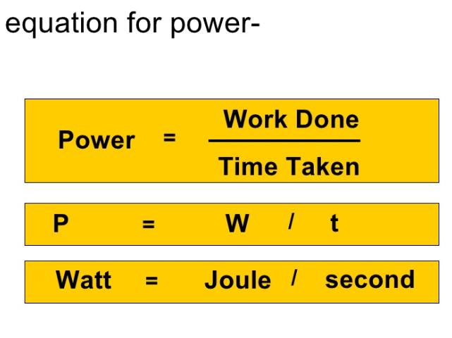 Power of a device - Physics GCSE
