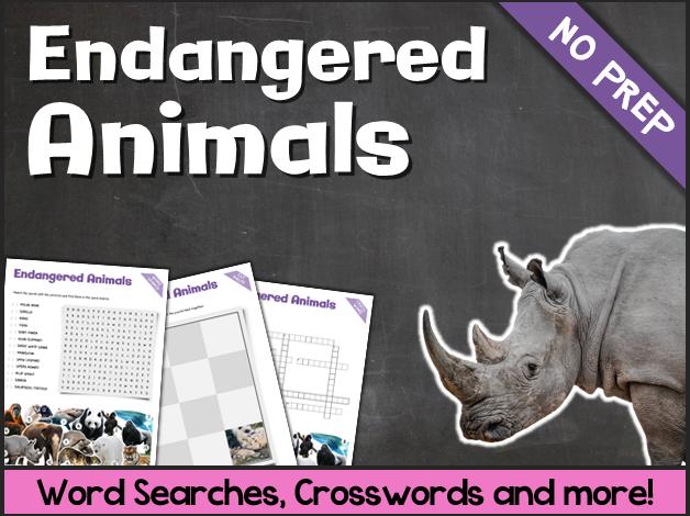 Endangered Animals (Puzzles & Fun Stuff)