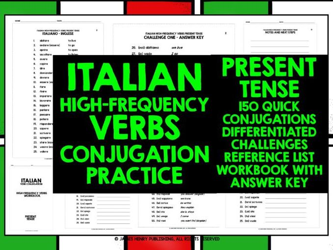 ITALIAN PRESENT TENSE CONJUGATION PRACTICE