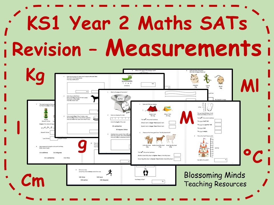 KS1 Year 2 Maths SATs - Measurements Revision - Differentiated Levels