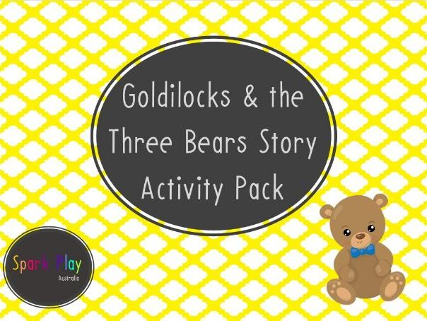 Goldilocks & 3 Bears Story Activity Pack