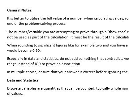Further Maths | Core & Matrices A+ Notes for Exams
