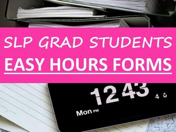 Undergrad Grad Student Hours Form