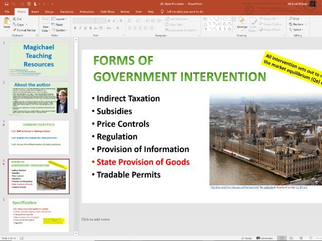29. State Provision (Slides, Activities and Notes) - Edexcel A-Level Economics - Theme 1