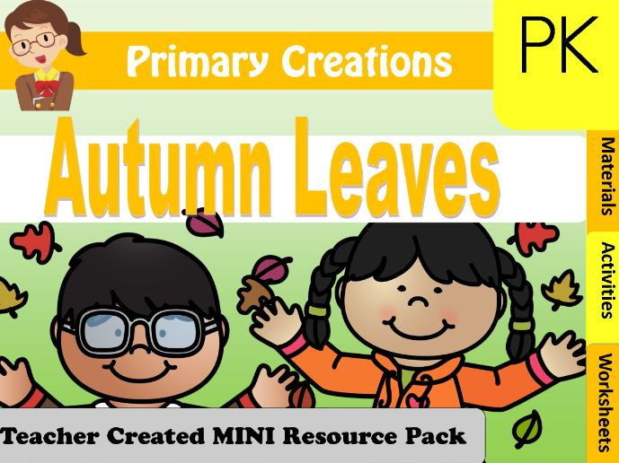 PreK Fall Activities Pack (USA edition)