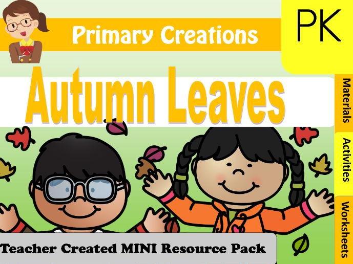 PreK Fall Activities Pack (USA edition)