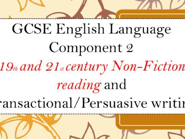 WJEC Eduqas Non-Fiction Reading Component 2 FULL SOW GCSE
