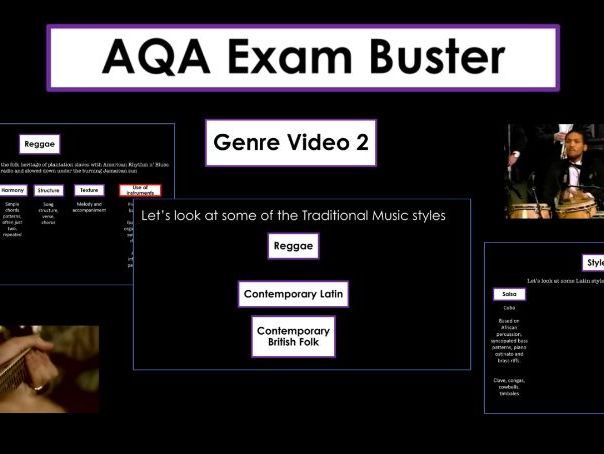 AQA Exam Busters - Genre Question - Traditional Music- Reggae, Latin and Folk