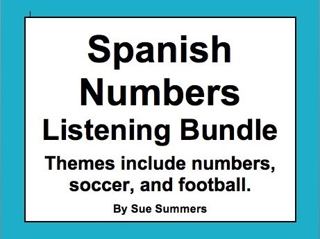 Spanish Numbers and Math Listening Activities Bundle of 3