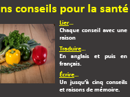 Healthy living - advice and reasons (French)