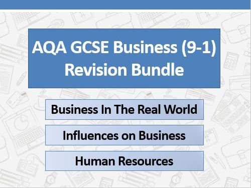 AQA GCSE Business (9-1) Revision Pack - Year 10