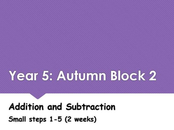 Year 5: Autumn Block 2 Addition and Subtraction Following White Rose Maths