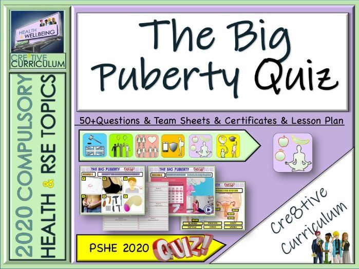 Puberty End of Year Quiz