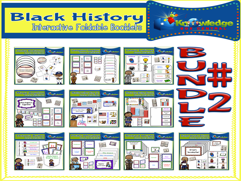 Black History Interactive Foldables Bundle #2