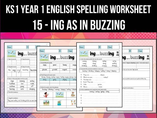 Spelling & Phonics Worksheet - ɪŋ sound spelled ING
