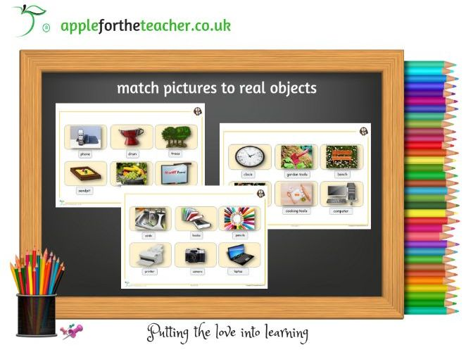 Match pictures to real objects SEN