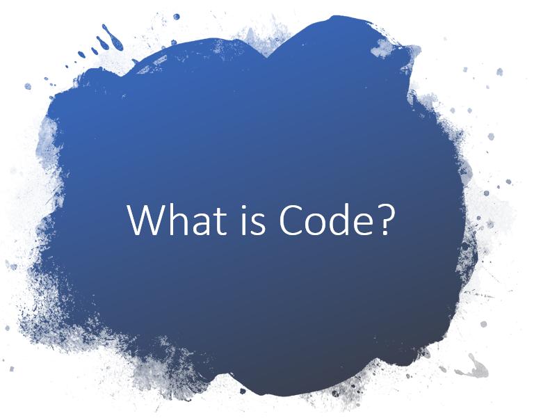 KS1 - What is Code?