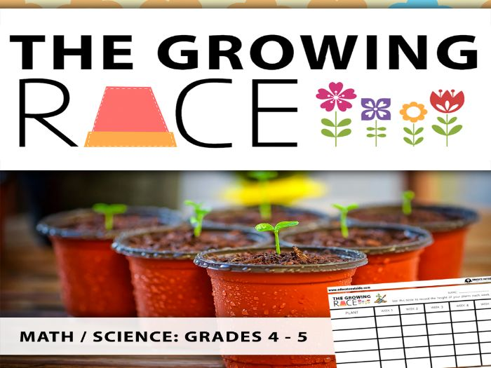 The Growing Race Math / Science Outdoor Investigation: Grades 4 - 5