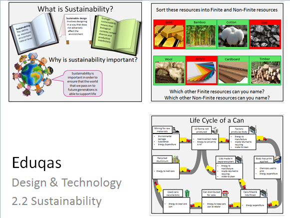 Design Technology - Sustainable Design 6R's Carbon Footprint Product Life cycle Finite/ non Finite