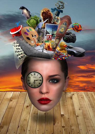 Photography Photoshop editing surrealist head step-by-step tutorial printable sheet