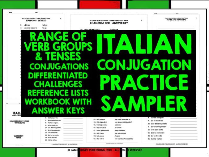 ITALIAN CONJUGATION DRILLS SAMPLER