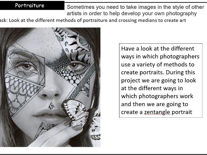 Zentangle Alana De Haynes Portraiture project