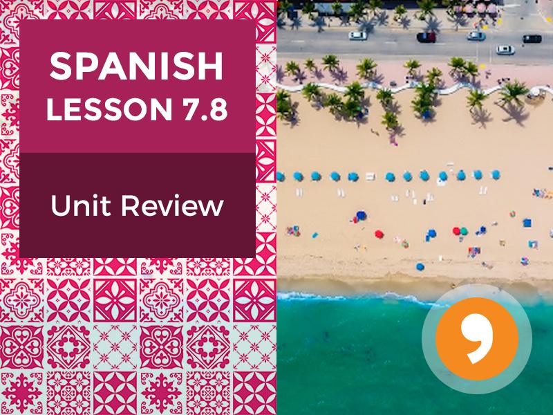 Spanish Lesson 7.8: Mis Viajes - Unit Review