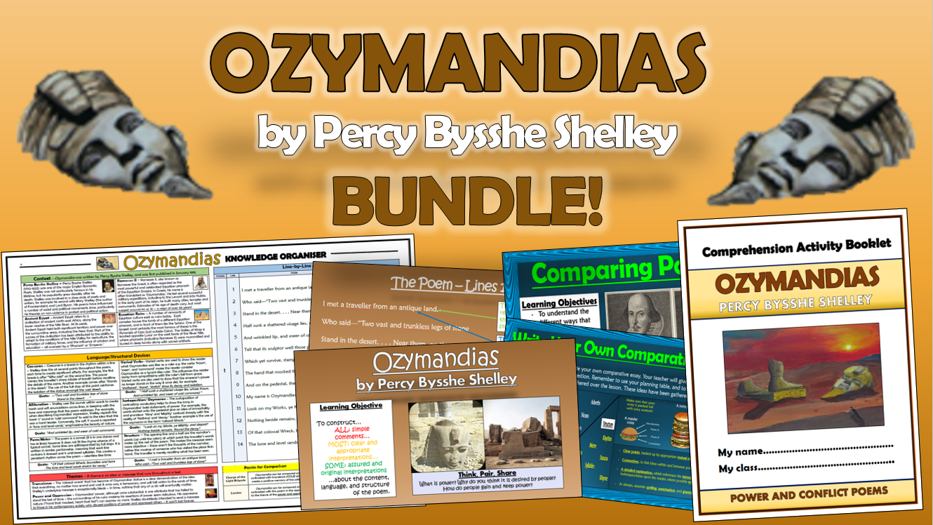 Ozymandias - Percy Bysshe Shelley - Bundle!