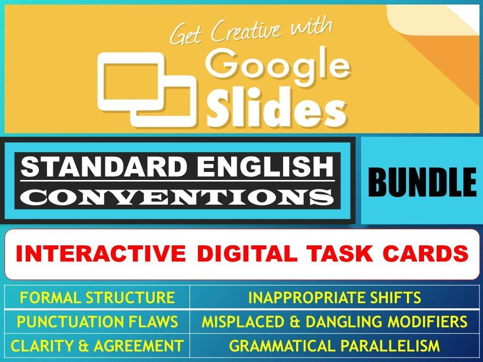 STANDARD ENGLISH CONVENTIONS: GOOGLE SLIDES - BUNDLE
