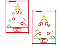 Christmas Count to 10 Missing Numbers, Autism , Special Education, SEND, Early Years