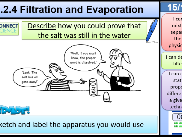 5.2.4 Filtration 5.2.5 Evaporation Activate AQA KS3