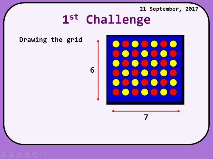 GCSE Programming Four in a row 2D arrays project