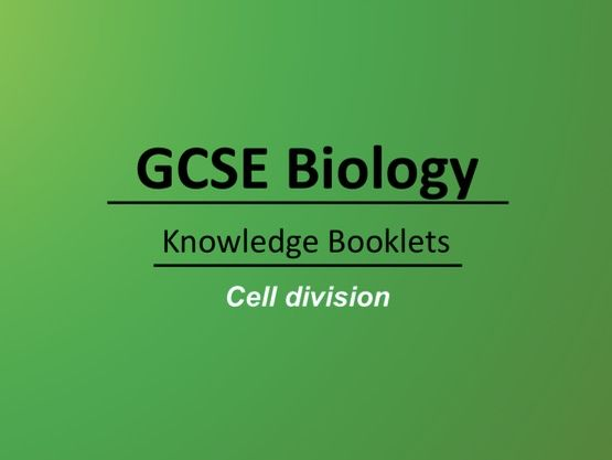 Cell Division Knowledge Booklet