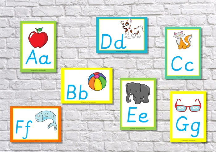 Alphabet Flashcards Display