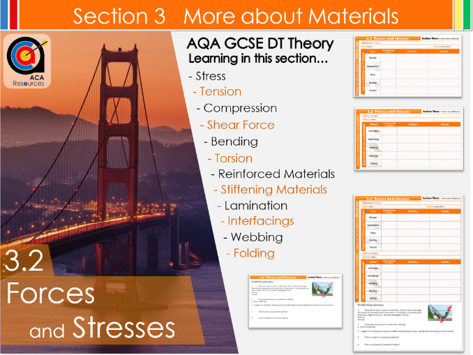 AQA GCSE DT 3.2 Forces and Stresses