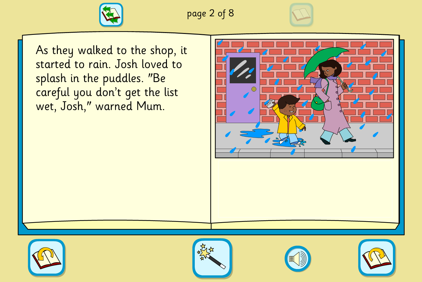 Josh's Cake Interactive Storybook - Early Reader Level - KS1 Literacy