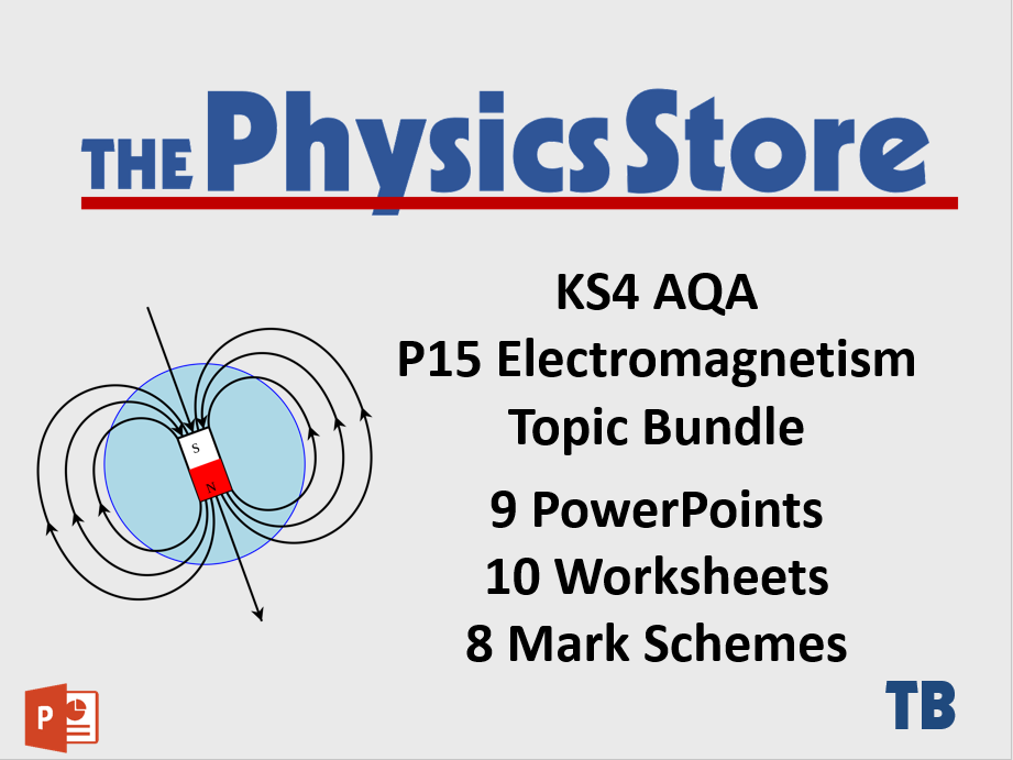 KS4 GCSE Physics AQA P15 Electromagnetism Topic - 9 PPTs, 10 WS and 8 MS Bundle